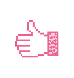 Pink all good hand icon vector