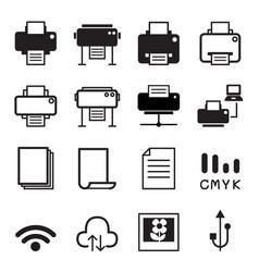 printer icons vector image