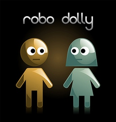 robot dolly vector image vector image