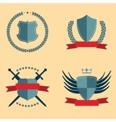 Shields - heraldic design elements vector image vector image