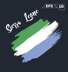 sierra leone flag brush strokes painted vector image