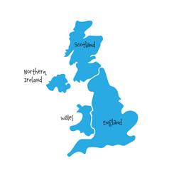united kingdom aka uk of great britain and vector image vector image