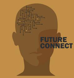 Artificial intelligence human brain circuit vector