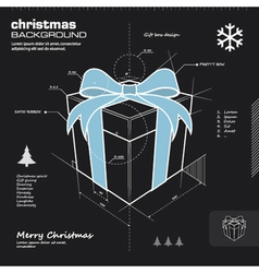 Christmas gift box infographic design vector image vector image