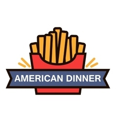 Fast food french fries linear icon for cafe design vector image