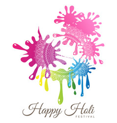 abstract colorful happy holi festival vector image