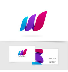 abstract three elements logo gradient vector image