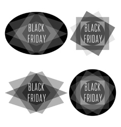 Black friday title collection vector image vector image
