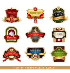 frames and ornamental labels vector image vector image