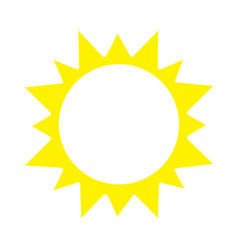 sunny icon vector image vector image