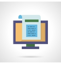 Web page abstract flat color icon vector image vector image