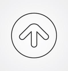 arrow outline symbol dark on white background logo vector image vector image
