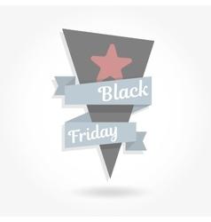 Black friday sale Graphics ribbon vector image vector image