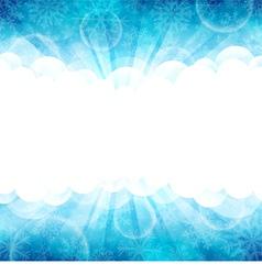 Blue winter vector image