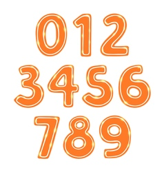Gingerbread cookie numbers set vector image