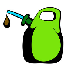 oil canister icon cartoon vector image vector image