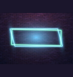 realistic neon frame icon vector image