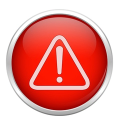 Red warning icon vector