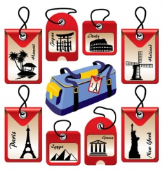 travel landmarks vector image