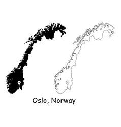 1130 oslo norway vector image