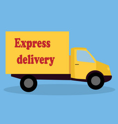 a cartoon representing a delivery car vector image