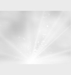 abstract light rays and dust gray background vector image