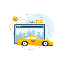 application service for ordering taxi online vector image