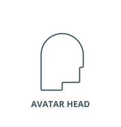 avatar head line icon avatar head outline vector image