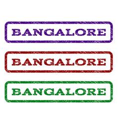 bangalore watermark stamp vector image