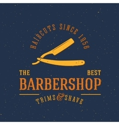 Barbershop Vintage Label or Logo Template vector