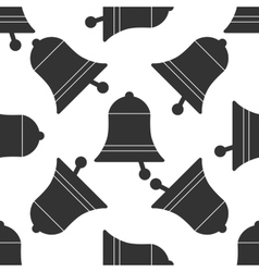 Bell icon pattern on white background vector image