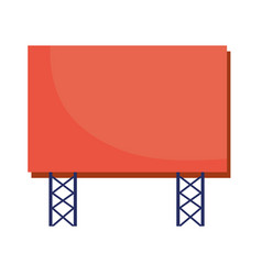 Billboard banner publicity isolated icon vector