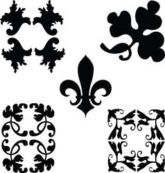 Black decorations ornaments vector