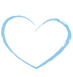 blue heart drawing love valentine vector image vector image
