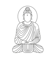 buddha icon outline style vector image