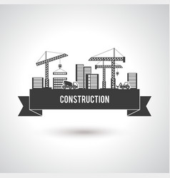 Building Construction Poster vector