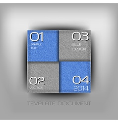 business four squares blue with text grain vector image