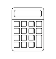calculator math school utensil thin line vector image