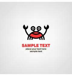 Cartoon crab icon vector