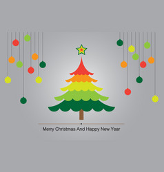 Christmas tree colorful background vector