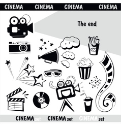 Cinema sign set vector