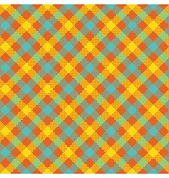 Colored check plaid fabric texture seamless vector