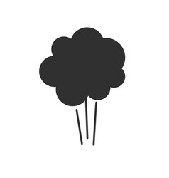 comic explosion icon or air puff pressure smoke vector image