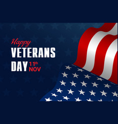 creative poster or banner happy veterans day vector image