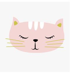 cute cat vector image
