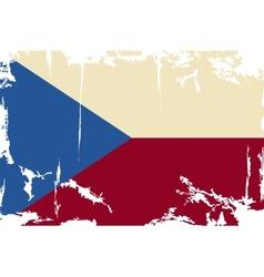 Czech Republic grunge flag vector