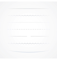 Dividers Isolated On White Background vector