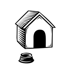 Doghouse icon isolated on white background vector