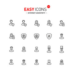 Easy icons 52a internet anonymity and privacy vector