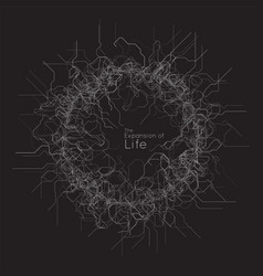 Expansion cyber life ai neuron network vector